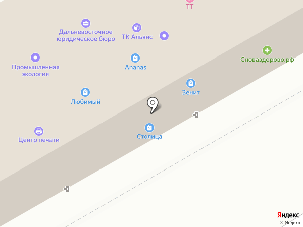 ТК Альянс на карте Хабаровска