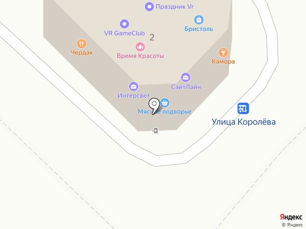 Чердак на карте Хабаровска
