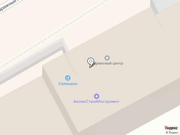 БизнесСтройИнструмент на карте Хабаровска
