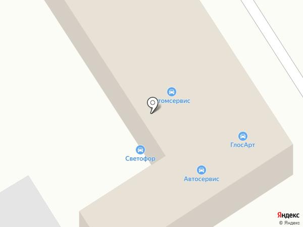 Светофор на карте Хабаровска