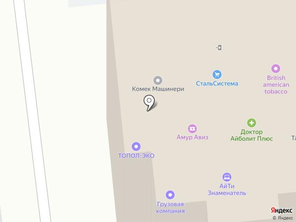 Компания ТрансТелеКом на карте Хабаровска