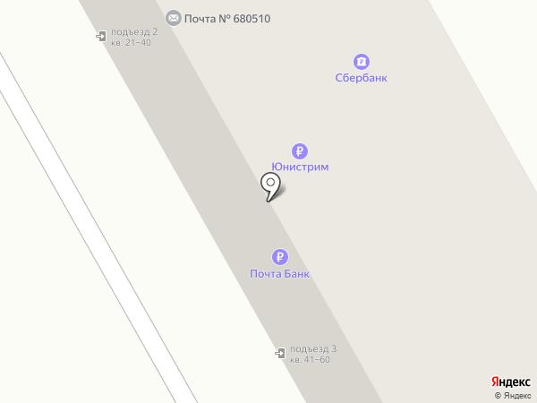 Почтовое отделение на карте Тополево