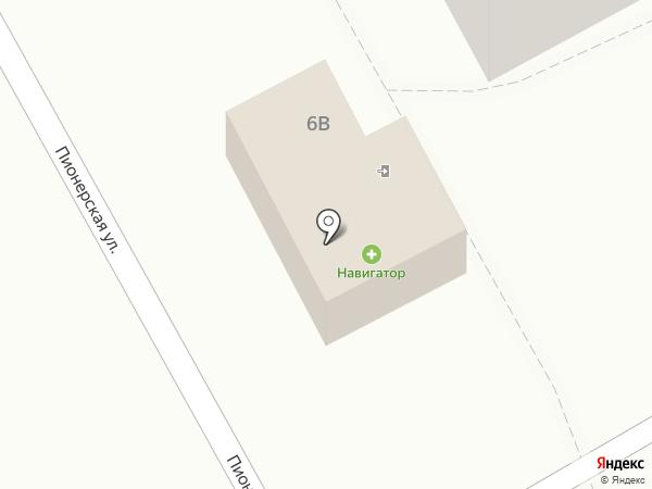 Навигатор на карте Тополево