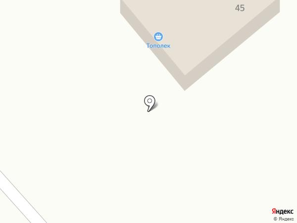 Тополек на карте Тополево