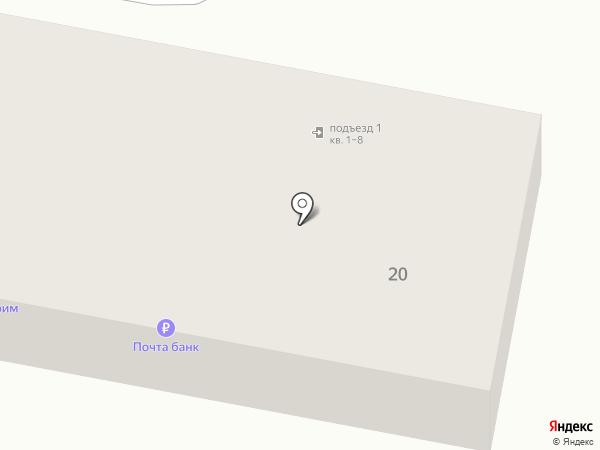 Отделение почтовой связи на карте Мирного