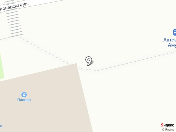 Пионер на карте Амурска