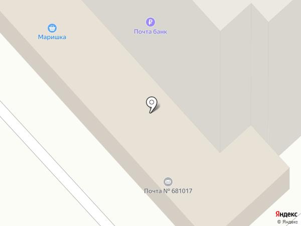Почтовое отделение №17 на карте Комсомольска-на-Амуре