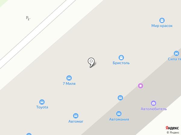Автолюбитель на карте Комсомольска-на-Амуре