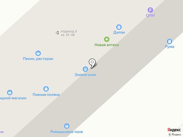 Магазин текстиля на карте Комсомольска-на-Амуре