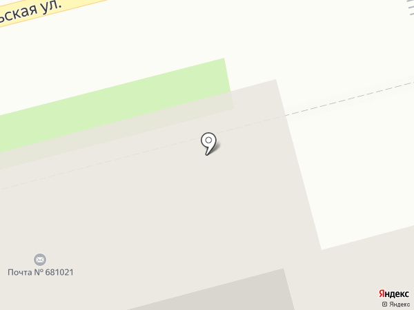 Почтовое отделение №21 на карте Комсомольска-на-Амуре