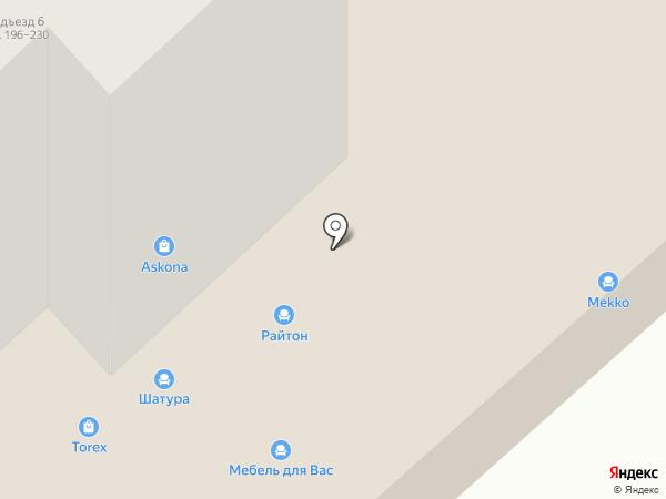 Askona на карте Комсомольска-на-Амуре