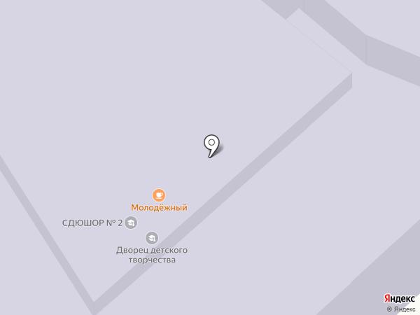 Городской Дворец творчества детей и молодежи на карте Комсомольска-на-Амуре