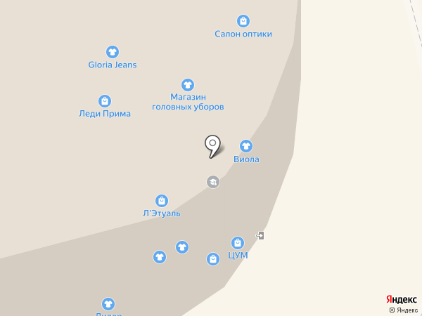 ЦУМ на карте Комсомольска-на-Амуре