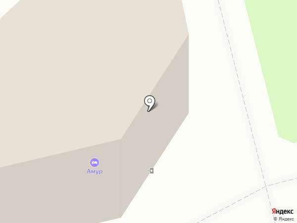 Виале на карте Комсомольска-на-Амуре
