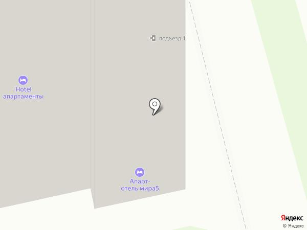 Мини-гостиница на карте Комсомольска-на-Амуре