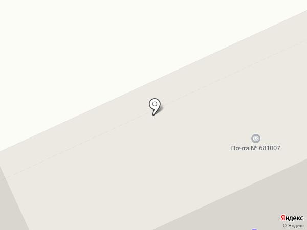 Почтовое отделение №7 на карте Комсомольска-на-Амуре