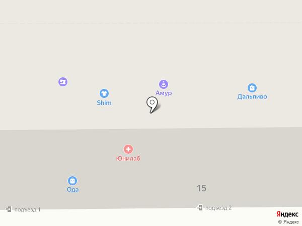 Дальпиво на карте Комсомольска-на-Амуре