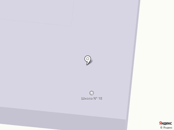 Средняя общеобразовательная школа №18 на карте Синегорска