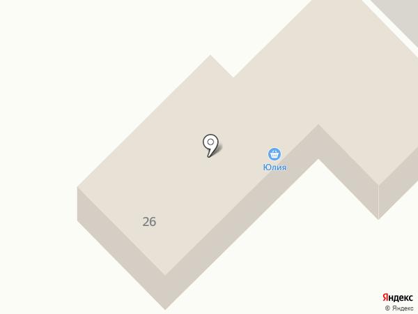 Юлия на карте Анивы