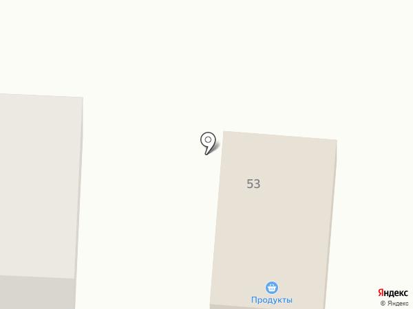 Продуктовый магазин на карте Синегорска