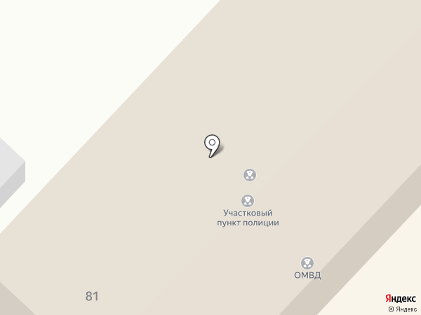 Отдел полиции на карте Анивы