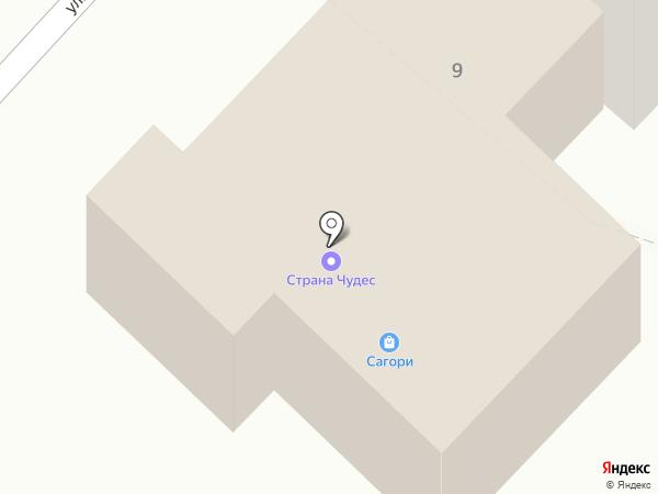 Сагори на карте Анивы