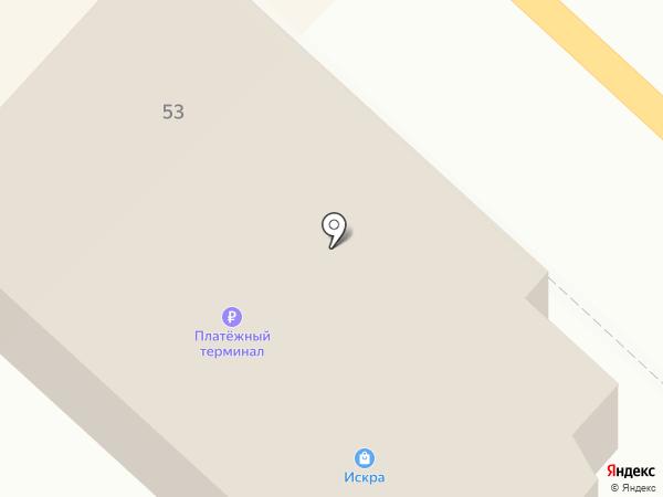 Искра на карте Анивы