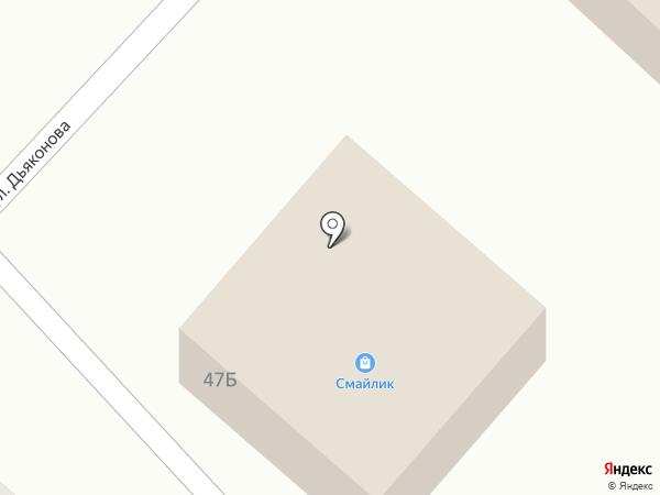 Смайлик на карте Анивы