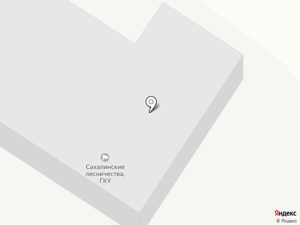Сахалинские лесничества на карте Анивы