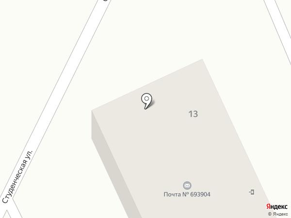 Почтовое отделение на карте Дальнего