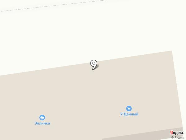 Эллинка на карте Южно-Сахалинска