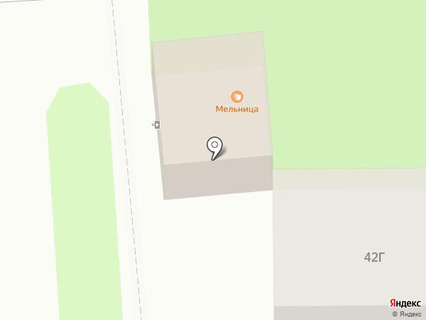 Мельница на карте Южно-Сахалинска