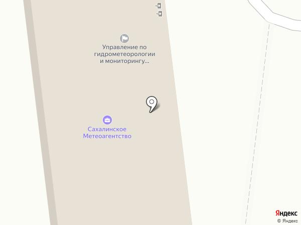 Сахалинское Управление по гидрометеорологии и мониторингу окружающей среды, ФГБУ на карте Южно-Сахалинска