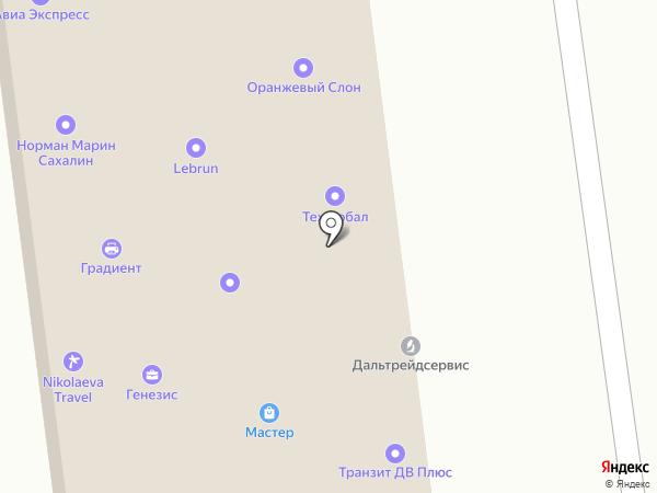 Альтеза на карте Южно-Сахалинска