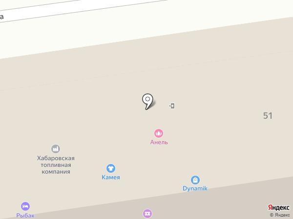 Камея на карте Южно-Сахалинска