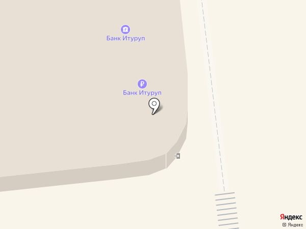 Банкомат, Банк Итуруп на карте Южно-Сахалинска