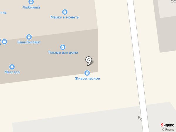 Магазин оптики на карте Южно-Сахалинска