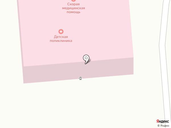 Детская поликлиника №6 на карте Южно-Сахалинска