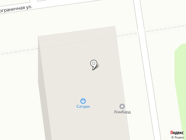 Сатурн на карте Южно-Сахалинска