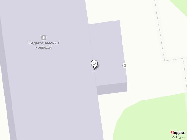 Южно-Сахалинский педагогический колледж на карте Южно-Сахалинска