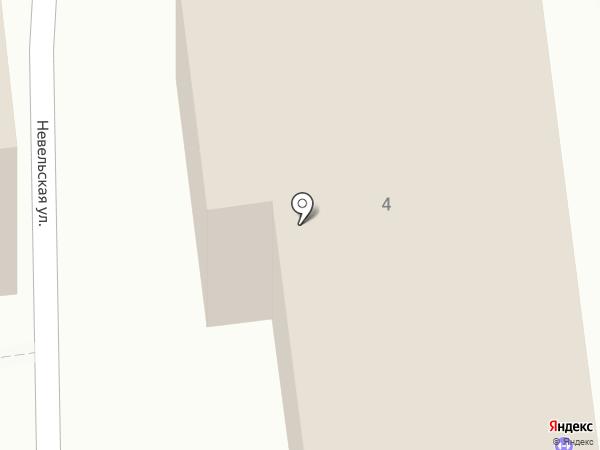 Вечерняя (сменная) общеобразовательная школа №1 на карте Южно-Сахалинска