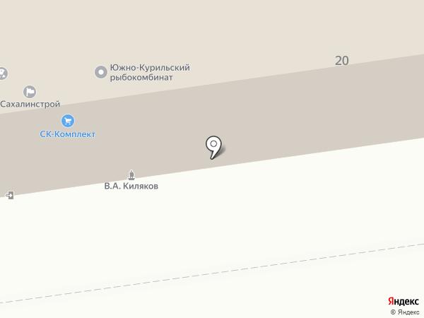 Коннов С.П. на карте Южно-Сахалинска