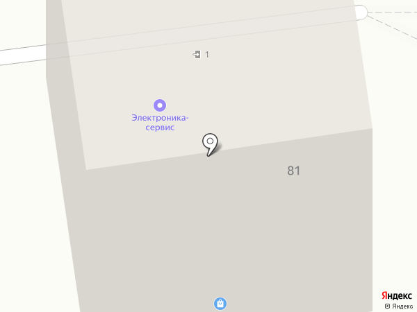 Электроника-сервис на карте Южно-Сахалинска