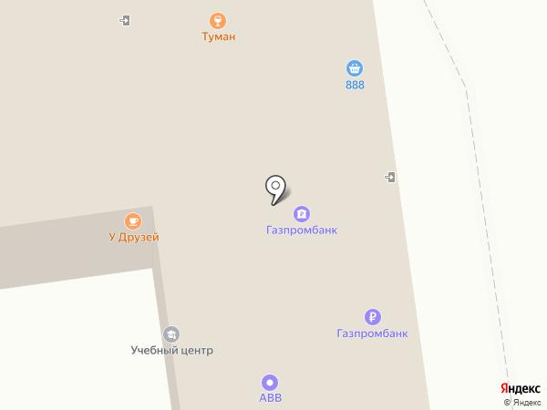 Уссури банк на карте Южно-Сахалинска