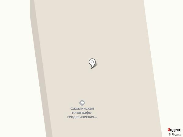 Сахалинская топографо-геодезическая экспедиция на карте Южно-Сахалинска