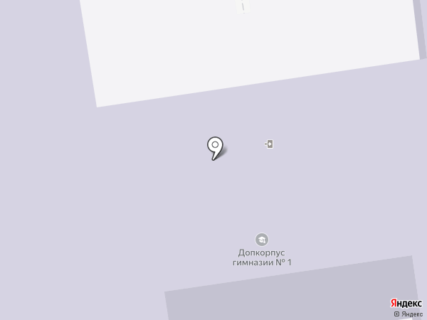 Гимназия №1 им. А.С. Пушкина на карте Южно-Сахалинска