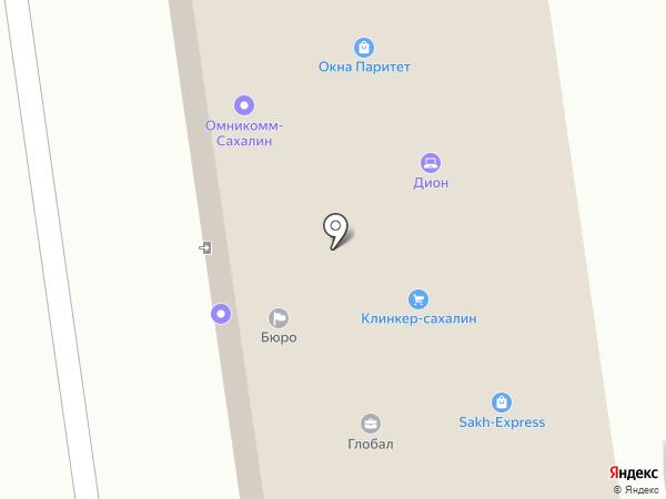 Деловой партнер на карте Южно-Сахалинска