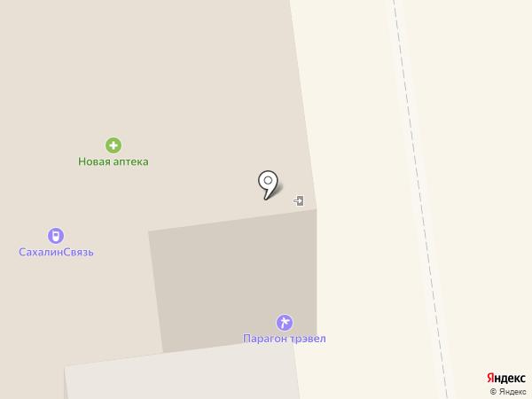 Сах-Строй-Маркет на карте Южно-Сахалинска
