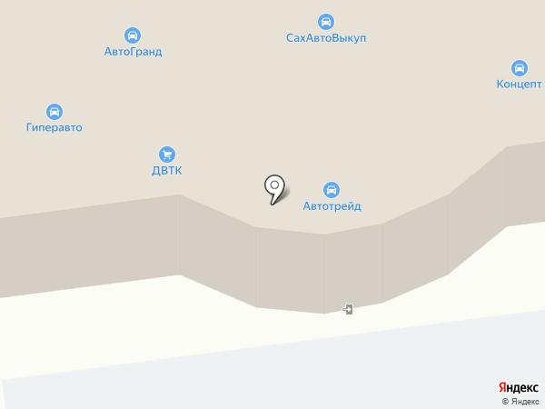 Гиперавто на карте Южно-Сахалинска