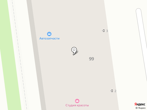 Магазин автозапчастей на карте Южно-Сахалинска